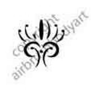 0284 tribal reusable stencil